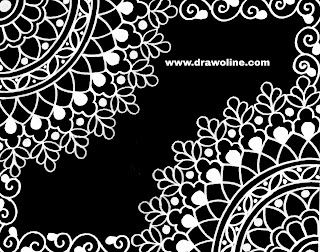 All over saree jall design drawing easy process on tracing paper for hand embroidery and machine embroidery design.