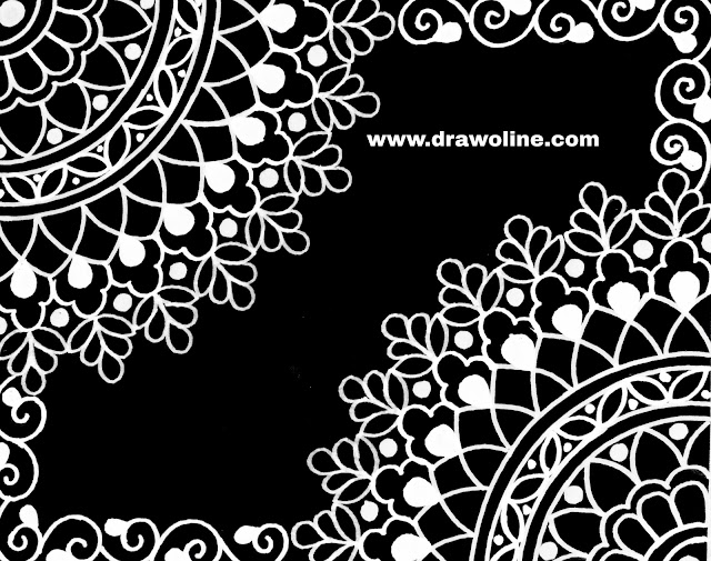 All over saree jall design drawing easy process on tracing paper for hand embroidery and machine embroidery design