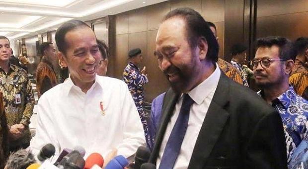 Di Hadapan Jokowi, Surya Paloh Bantah Bakal Safari ke PAN