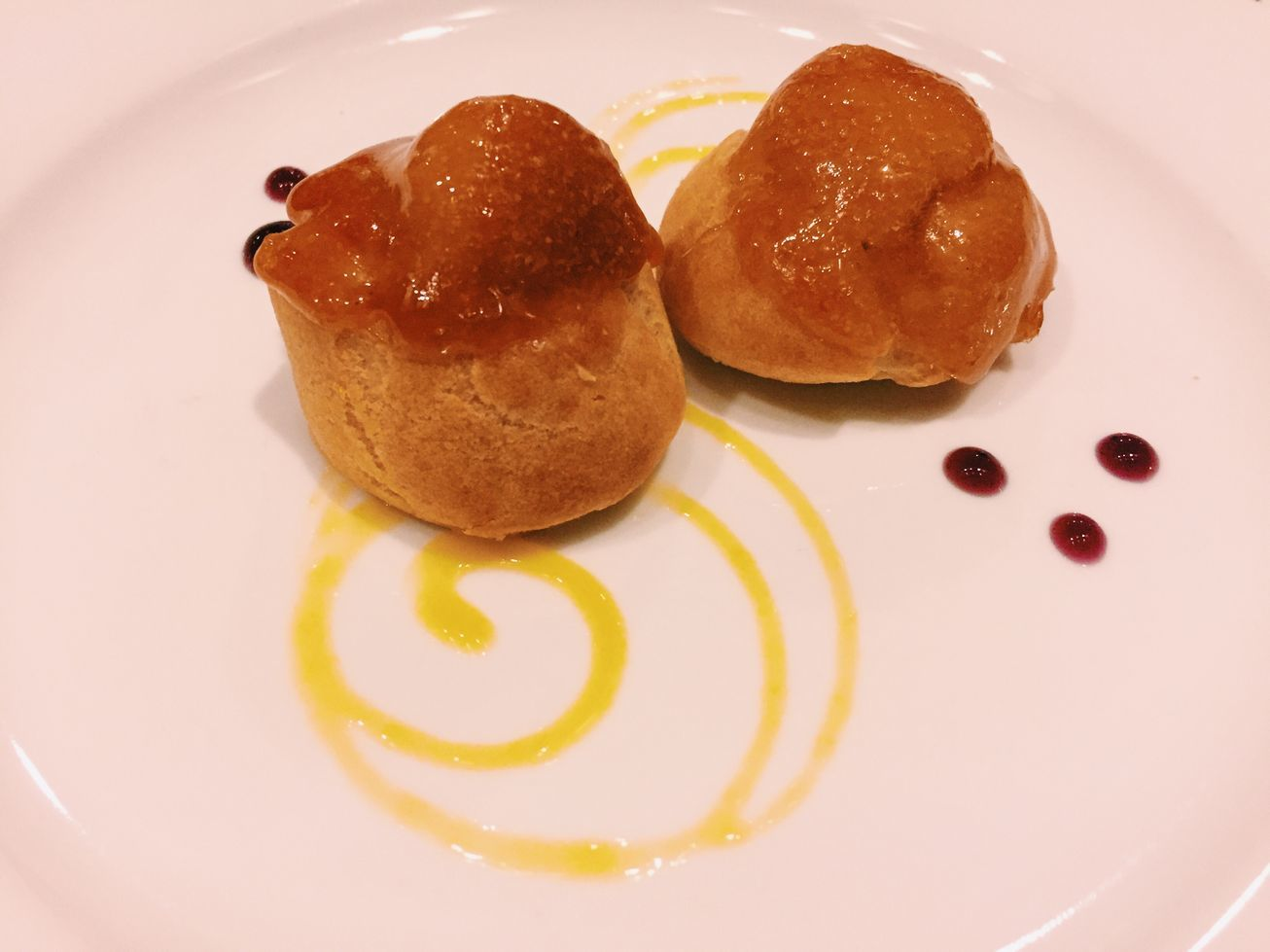 Caramelized profiteroles at Top of the Citi by Chef Jessie