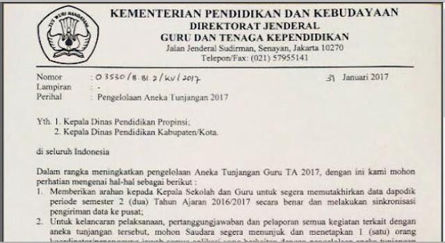 Syarat - Syarat Mendapatkan Tunjangan 2017