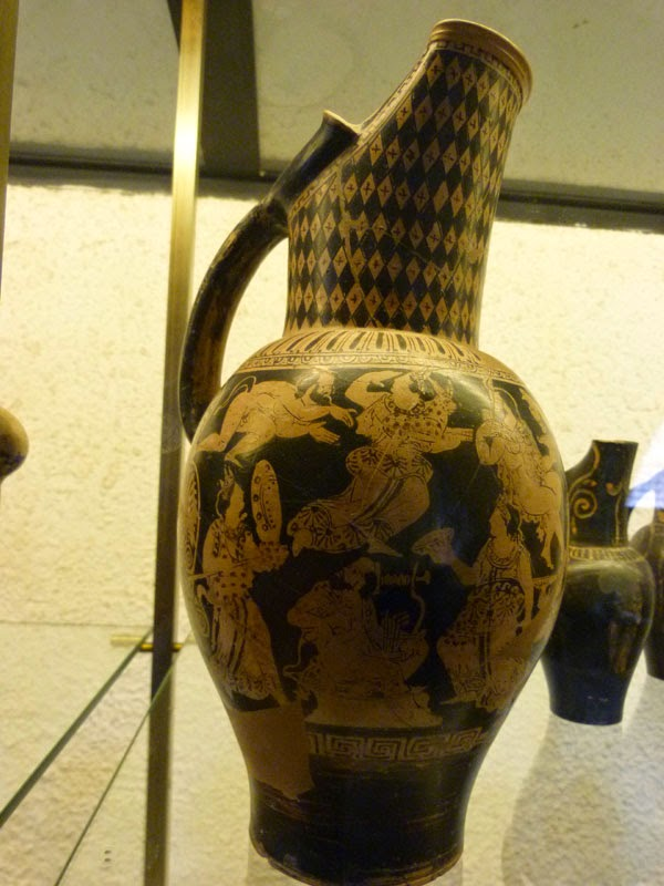 Fantástico Vaso Etrusco