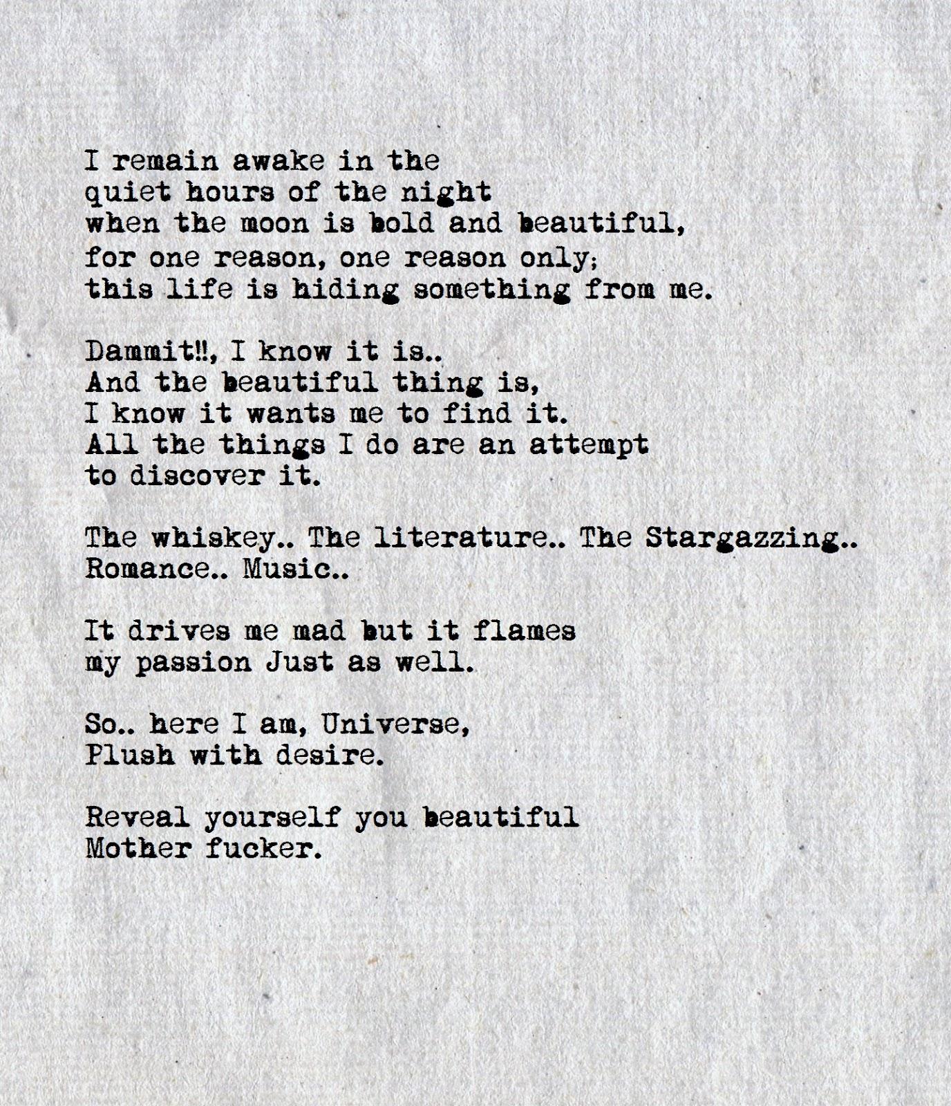 Not In Love Poems