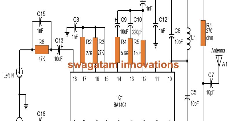 Fm Transmitter Circuit Using Lm358 Circuit Diagram