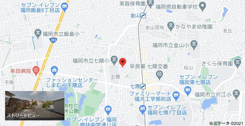 七隈スタジオまでの地図