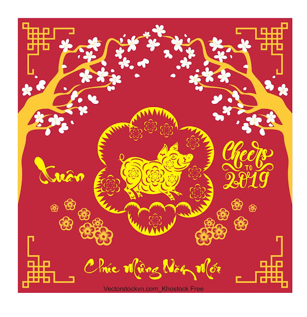 Happy Chinese New Year 2019 year of the pig. Download free