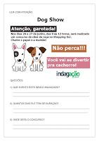 Atividade interpretação de texto Exposição de Cães no Shopping; PDF grátis