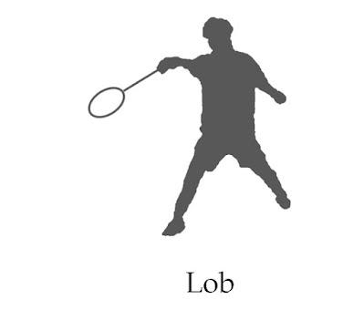 lob stroke badminton