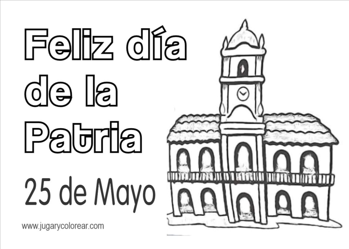 Colorear Argentina 25 De Mayo Jugar Y Colorear