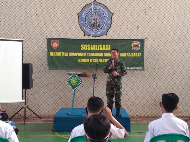 Perkuat Komponen Utama , Sosialisasi Rekrutmen Warga Sipil Untuk Ikuti Latihan Dasar Militer