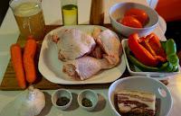 Guiso de POLLO 🍗 con PANCETA 🥓 (tocino, bacon) receta Casera