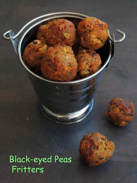 Black eyed peas fritters,Cow peas fritters