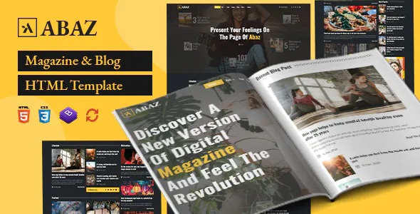 Best Magazine and Blog HTML Template