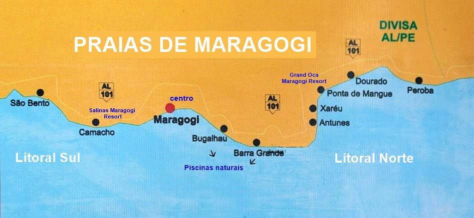 Centro, Barra Grande, Antunes, Ponta do Mangue, Litoral Norte ou Sul