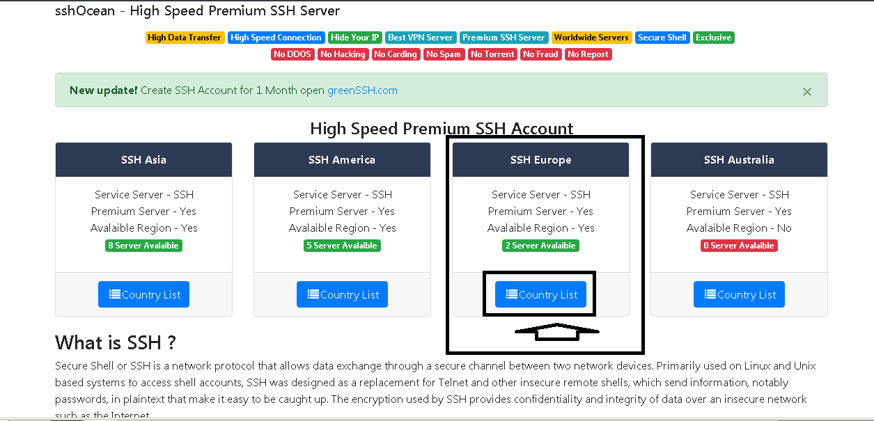Best vpn service and create ssh account