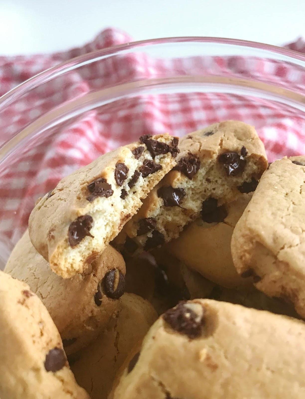 Cookies moeulleux aux pépites de chocolat