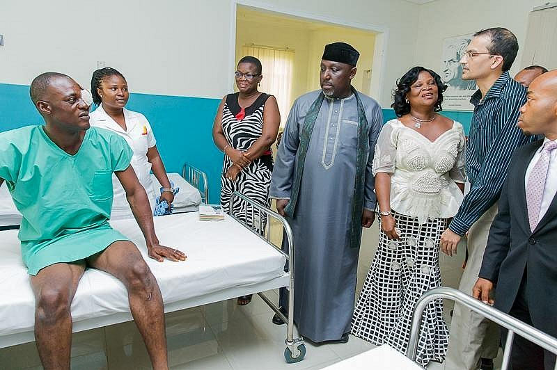 Man partially blinded by cataract regains sight as Okorocha sponsors surgery