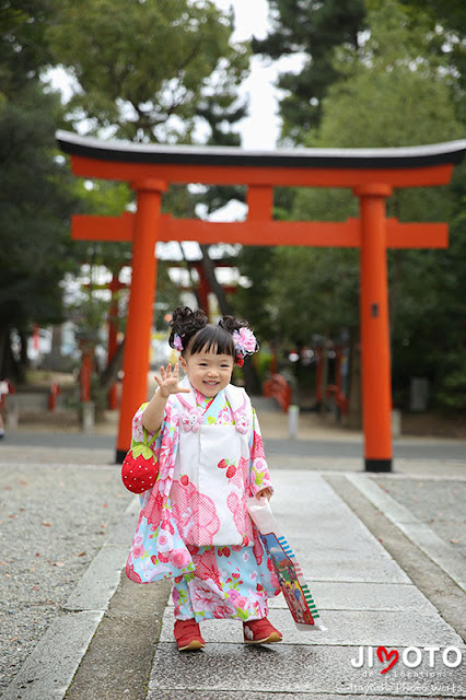 豊中稲荷神社の七五三出張撮影