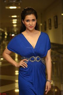 Mannara Chopra in Short Blue Dress at Rogue Movie Teaser Launch 1st March 2017 051.JPG