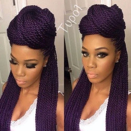 Box Braids in a Bun Hairstyle ideas