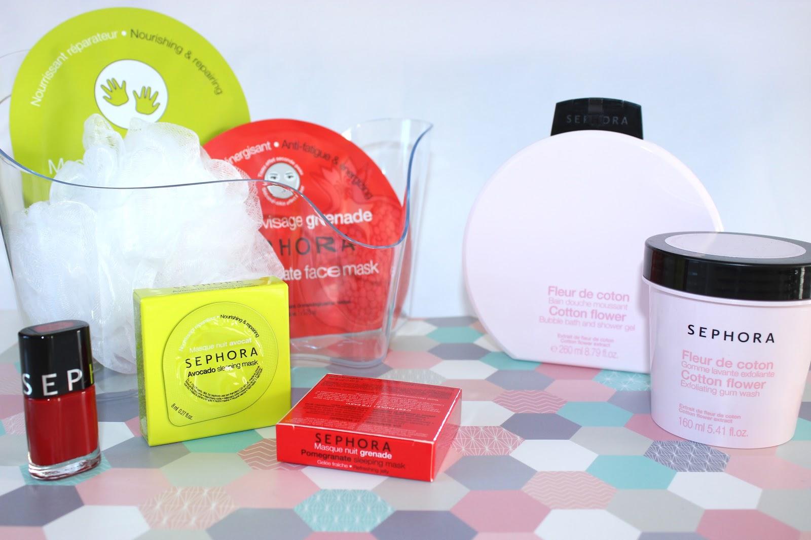 produits pour le corps et masque sephora, rosny 2 les petites bulles de ma vie