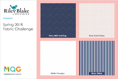 Riley Blake fabrics for the Modern Quilt Guild fabric challenge