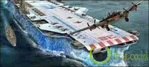Kapal Induk dari Balok Es