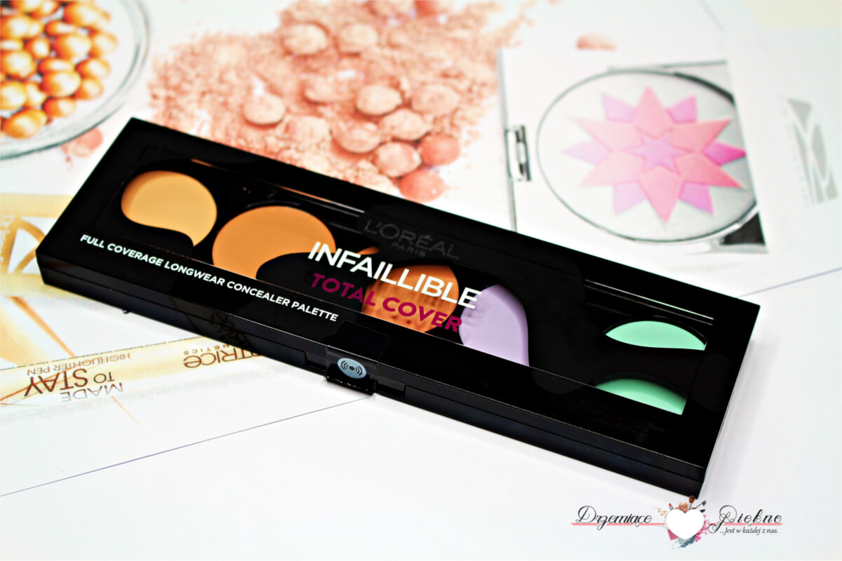 L'Oréal - Infallible Total Cover - Full Coverage Longwear Concealer Palette - Paleta 5 korektorów