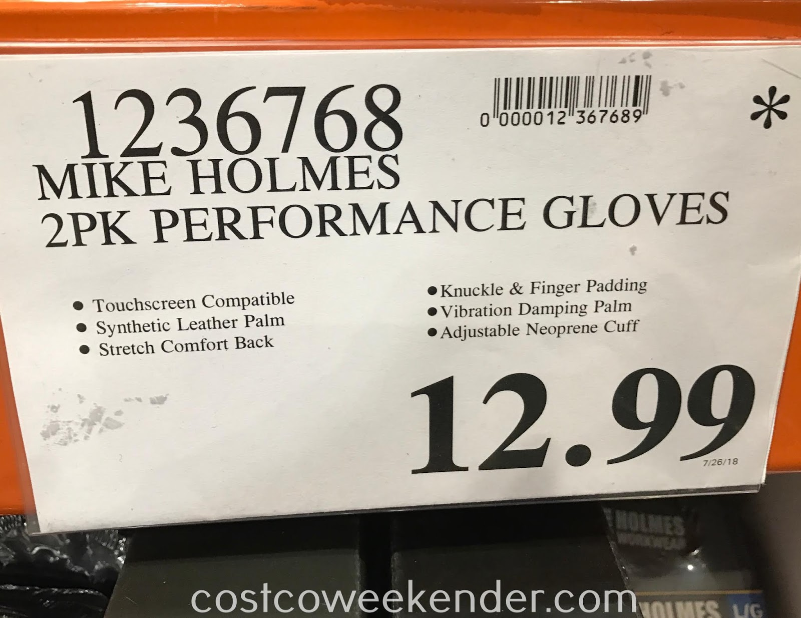 Deal for 2 pairs of Holmes Workwear High-Performance Gloves at Costco