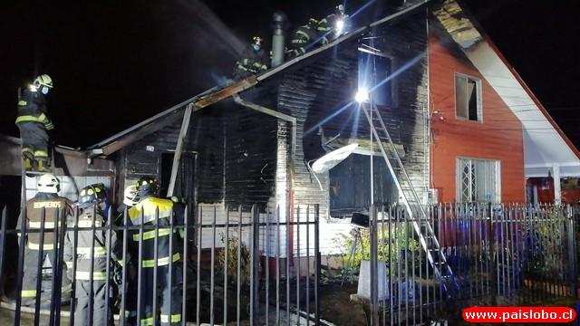 Osorno: incendio afecta viviendas del sector de Rahue Alto