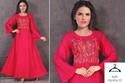 Womens trendy Rayon slub kurti