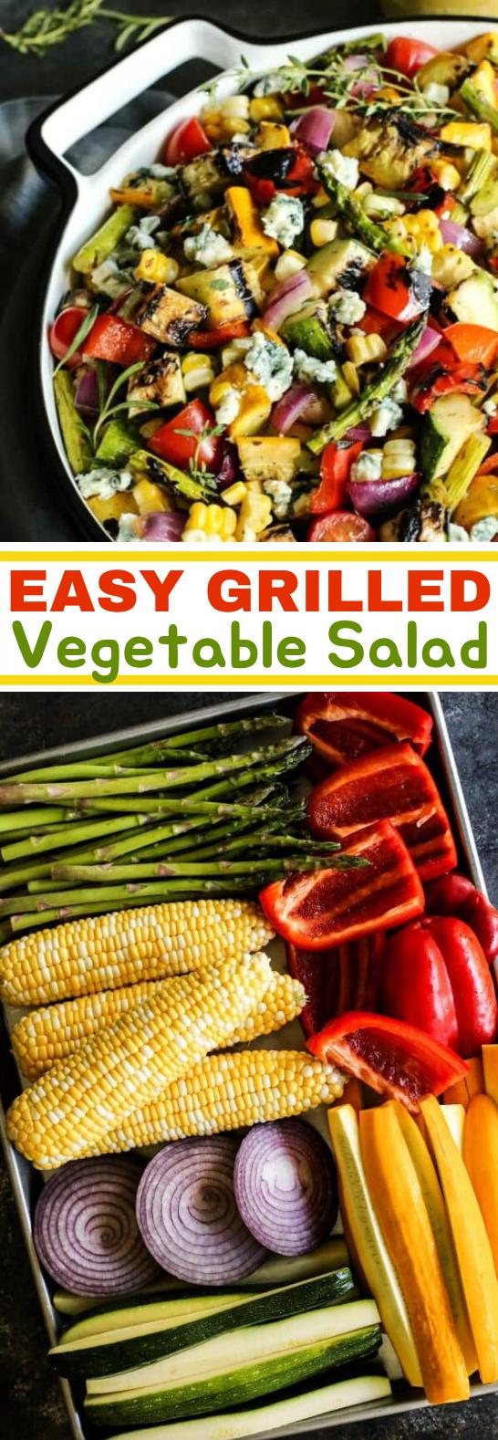 Grilled Vegetable Salad #vegetarian #salad #summer #lunch #sidedish