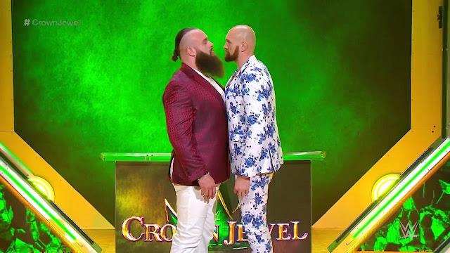 Brawn Strawman And Tyson Fury Faceoff