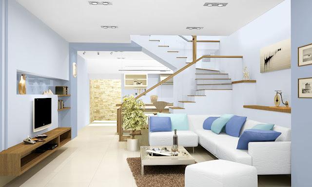 nội thất màu xanh dương