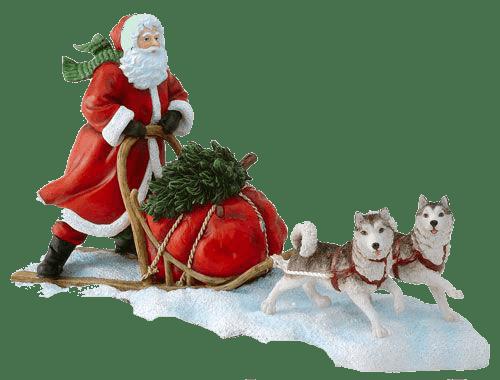 Santa Claus y su trineo