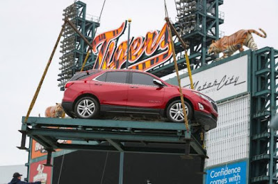 New Chevrolet Equinox and Silverado on Display at Comerica Park