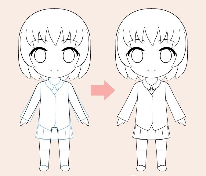 Gambar pakaian anime Chibi