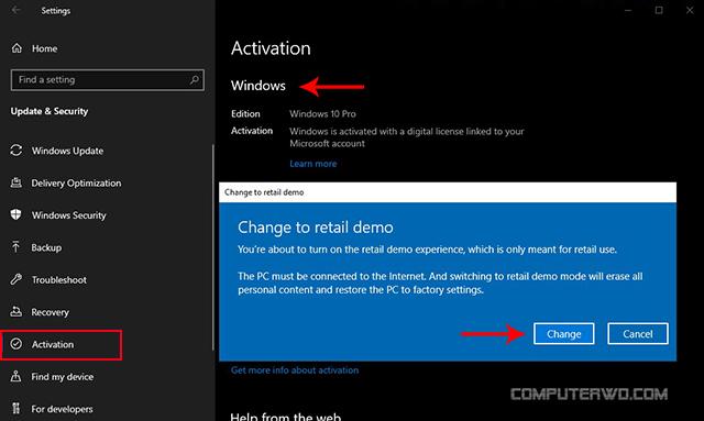 activate windows 10 demo mode - تفعيل وضع العرض ويندوز 10