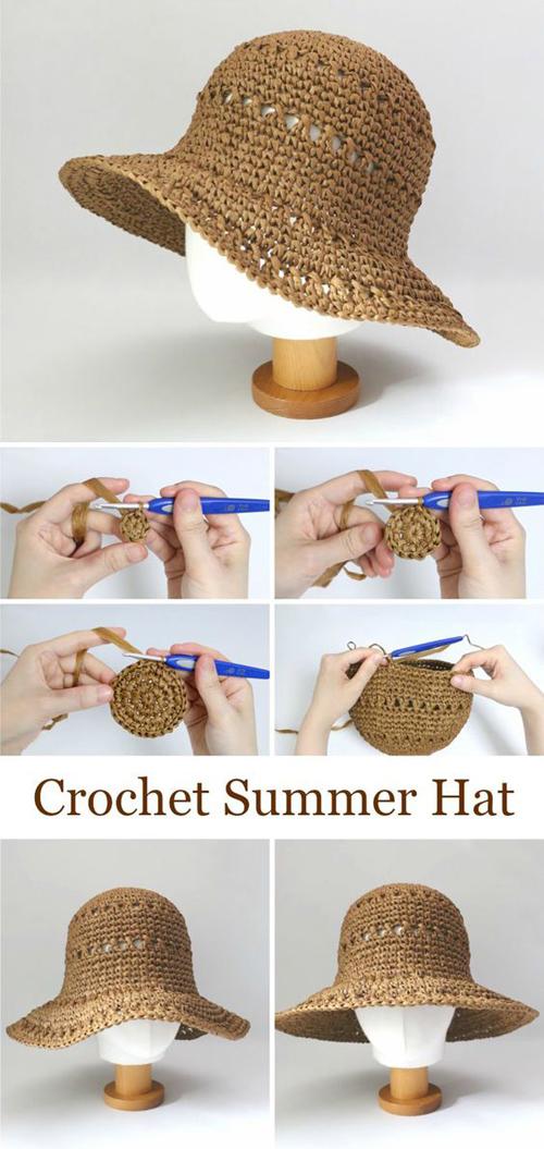 Summer Hat - Free Crochet Pattern & Tutorial