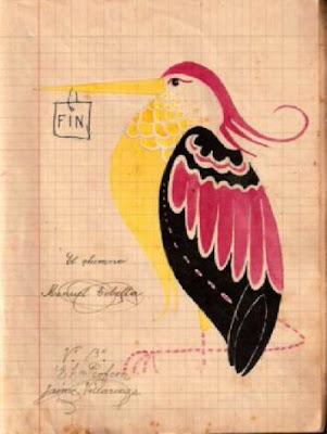 Pájaro dibujado por Manuel Tobella