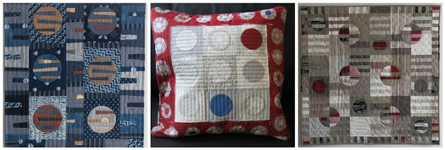 Luna Lovequilts - Circle appliqué quilts and cushion