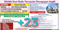 Middle East Daily Vacancies Newspaper Aug01