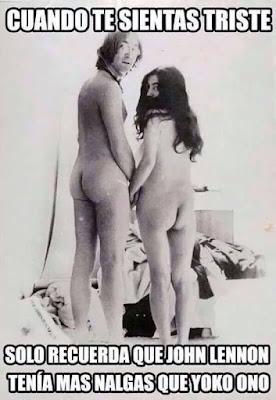 Meme de Yoco Ono y John Lennon