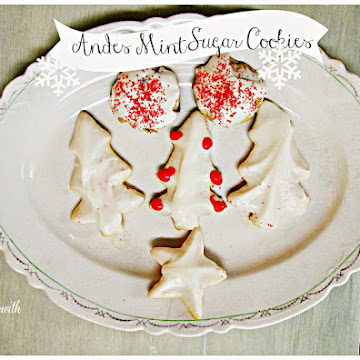 Mary's Sugar Cookies with Andes Mints