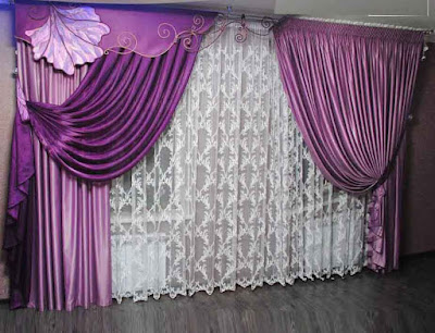modern living room purple curtains designs ideas colors styles for hall 2018