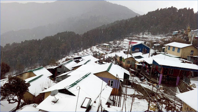 Second time snowfall in Darjeeling 2019