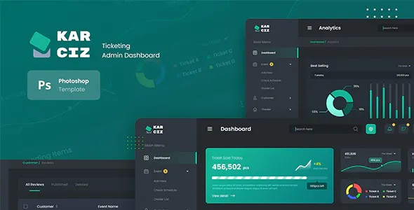 Best Event Ticketing Admin Dashboard UI Template