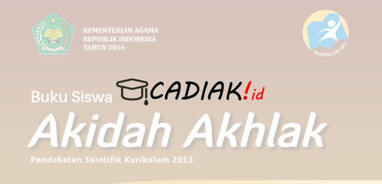 Buku Paket Akidah Akhlak Kelas 12 MA Kurikulum 2013 TERBARU