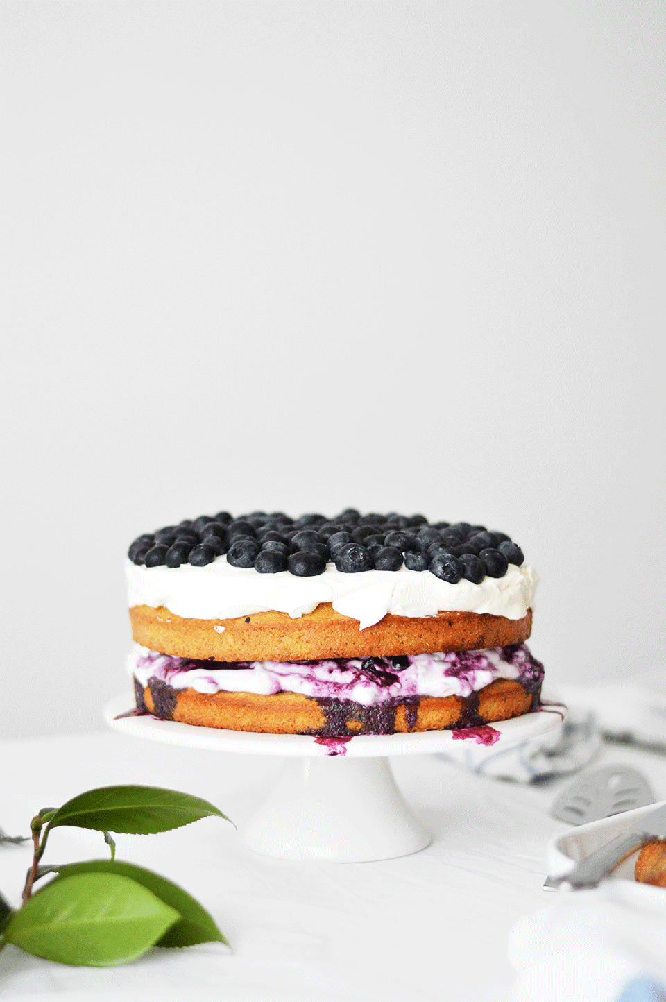 Walnut Blueberry Cake | https://oandrajos.blogspot.co.uk