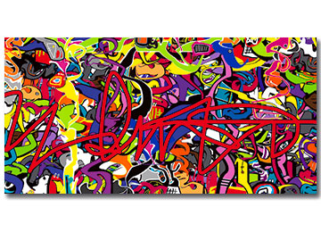 abstract art, art gallery, artist, artwork, multi coloured, buy art, canvas art, contemporary wall art, graffiti art, modern multi coloured wall art, Sam Freek, street art, wall art,